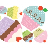 Happi Cupcake Giant Wall Decals