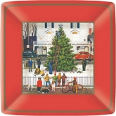 Tree in Town Square Dinner Paper Plates