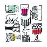 WINE GLASS BEVERAGE PAPER NAPKINS