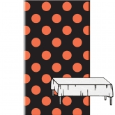 Orange and Black Plastic Tablecover