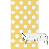 Yellow and White Plastic Tablecover