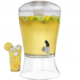 Beverage Plastic Dispenser with Removable Ice Core