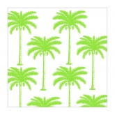 Hot Lime Palm Trees Beverage Paper Napkins