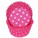 Deep Pink Polka Dots Baking Cups