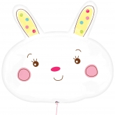 White Little Bunny Foil Balloon
