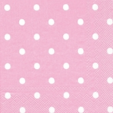Pink and White Polka Dot Luncheon Paper Napkins