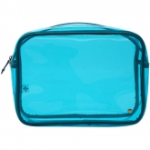JUMBO Zip Cosmetic Clear Case in Miami Blue
