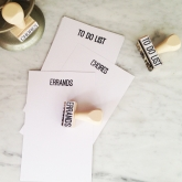 CHORES, ERRANDS, TO DO LIST Rubber Stamp Set of 3