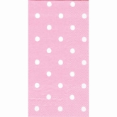 Pink and White Polka Dot Buffet/Guest Paper Towels