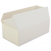 White Rectangular Paperboard Take-Out Box Set of 12