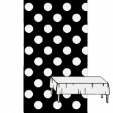 Black and White Polka Dot Plastic Tablecover
