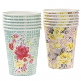 Truly Scrumptious Floral Paper Cups