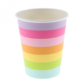 Candy Stripe Rainbow Paper Cups