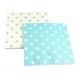 Reversible Blue and White Polka Dot Paper Napkins