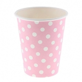 Pink and White Polka Dots Paper Cups