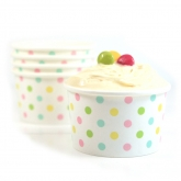 Candy Multi Polka Dot Ice Cream Paper Cups