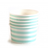 Blue and White Stripe Ice Cream Paper Cups