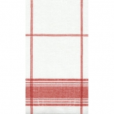 Red Belgian Linen Airlaid Guest Paper Towels