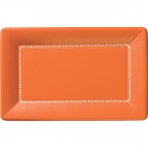 Orange Zing Large Rectangular Cafe Paper Plates