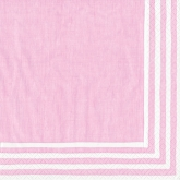 Pink and White Stripe Border Luncheon Paper Napkins