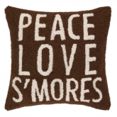 Peace Love Smore's Hook Pillow