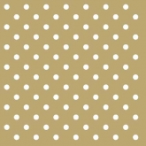 Metallic Gold and White Small Polka Dot Luncheon Paper Napkins