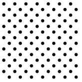 Black and White Small Polka Dots Luncheon Paper Napkins