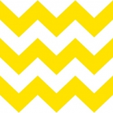 Yellow and White Chevron Stripe Luncheon Paper Napkins