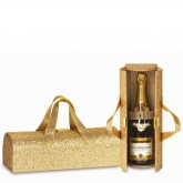 Gold Glitter Wine Bottle Clutch
