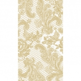 White and Gold Chantilly Lace Guest/Buffet  Paper Napkins