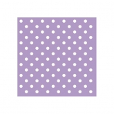 Lilac and White Small Polka Dots Beverage Paper Napkins