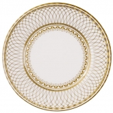 Faux Porcelain Round Gold Dinner Paper Plates