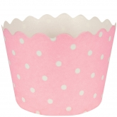 Light Coral Pink Polka Dots Baking Cups