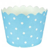 Baby Blue Polka Dots Baking Cups