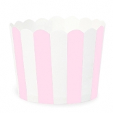 Powder Pink and White Stripes Baking Cups