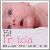 Hi! Birth Announcement Custom Photo Personalized Beverage Paper Napkins