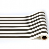 Classic Black and White Stripe Table Wrap 25 Foot Paper Runner