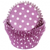 Purple Polka Dots Baking Cups