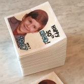 Photo Personalized Beverage Paper Napkins