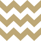 Metallic Gold and White Chevron Luncheon Paper Napkins