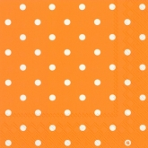 Orange and White Polka Dots Luncheon Napkins