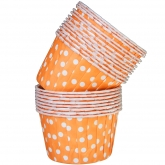 Orange - Dot Small Paper Squeeze Cups Set of 20