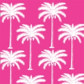 Hot Pink Palm Tree Silhouettes Luncheon Paper Napkins