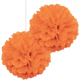 Orange Pom Pom Set of 2