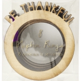Be Thankful Wood Napkin Rings