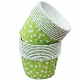 Lime - Dot Small Paper Squeeze Cups Set of 20