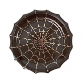 Black Spiderweb Shaped Dessert Paper Plates