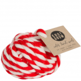 Red and White Color Twist Thick Wool