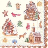 Gingerbread House Luncheon Paper Napkins