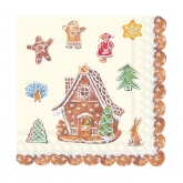 Gingerbread House Beverage Paper Napkins
